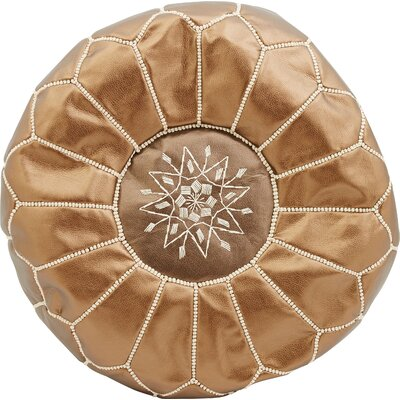 Diamanta Moroccan Pouf Cover Ottaman Upholstery: Copper