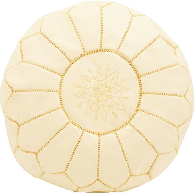 Diamanta Moroccan Pouf Cover Ottaman Upholstery: Vanilla