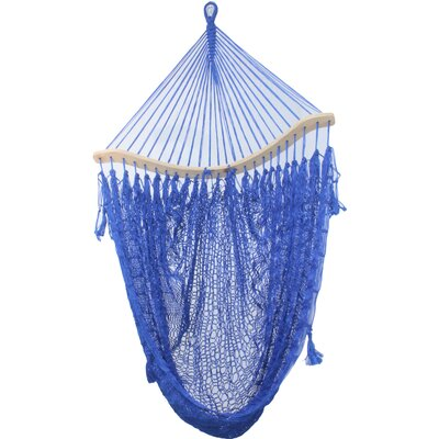 Aline Maya Artists of the Yucatan Cotton Chair Hammock Color: Summer Blues