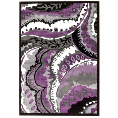Alize Modern Purple Area Rug Rug Size: Rectangle 2 x 34