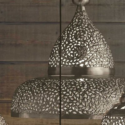 Lisse Open Bottom Hanging Lamp Color: Silver
