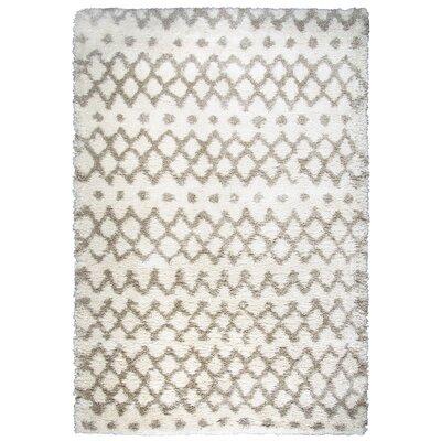 Matias Cream Shag Area Rug Rug Size: Rectangle 710 x 106