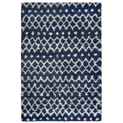 Matias Blue Shag Area Rug Rug Size: Rectangle 710 x 106