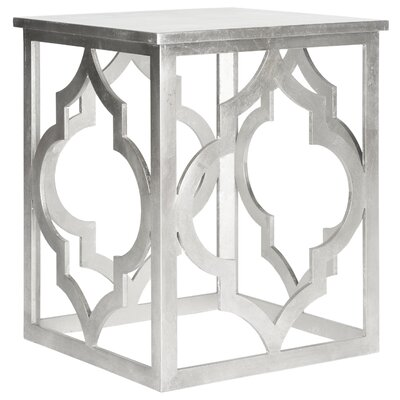 Benicia End Table Color: Silver Leaf
