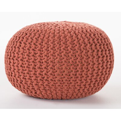 Hesperia Fabric Pouf Ottoman Upholstery: Coral