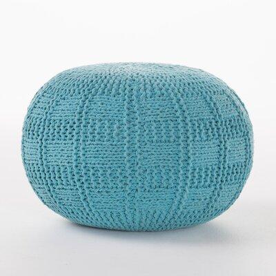Loma Fabric Pouf Ottoman Upholstery: Blue
