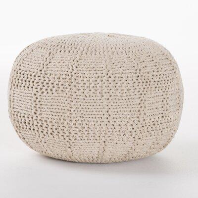Loma Fabric Pouf Ottoman Upholstery: Ivory