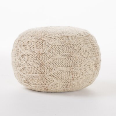 Montclair Fabric Pouf Ottoman Upholstery: Ivory