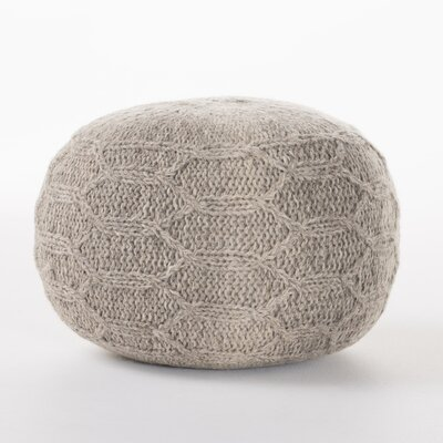 Montclair Fabric Pouf Ottoman Upholstery: Gray
