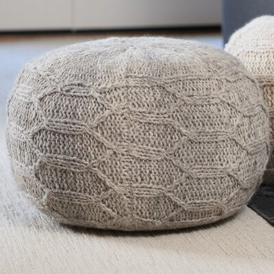 Montclair Pouf Upholstery: Gray