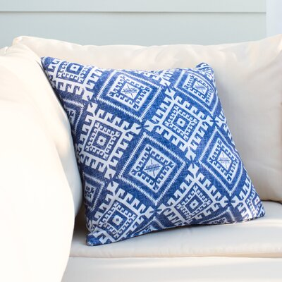 Mila Shakami Denim Outdoor Throw Pillow Size: 16 H x 16 W x 4 D