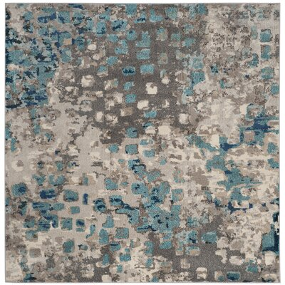 Crosier Grey & Light Blue Area Rug Rug Size: Rectangle 3 x 5