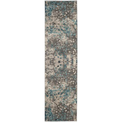 Crosier Grey & Light Blue Area Rug Rug Size: Runner 22 x 6