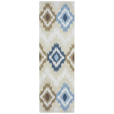 Ricky Hand-Tufted Beige Area Rug Rug Size: Rectangle 10 x 14