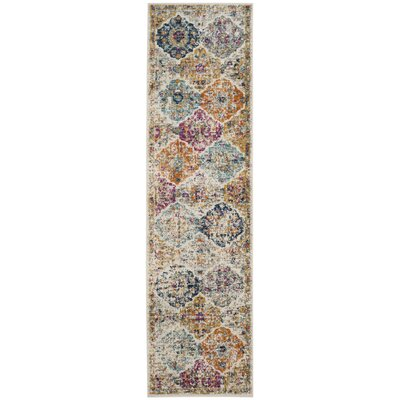 Grieve Cream Area Rug Rug Size: Runner 2'3