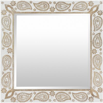 Carved Paisley Motif Accent Wall Mirror