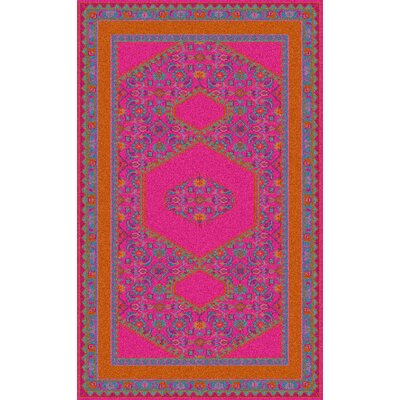 Hagerman Classic Magenta Area Rug Rug size: 5'6
