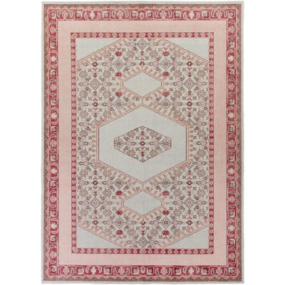Hagerman Classic Poppy Area Rug Rug size: Rectangle 56 x 86