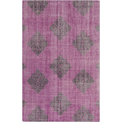Ritesh Medallion Magenta Area Rug Rug size: Rectangle 36 x 56