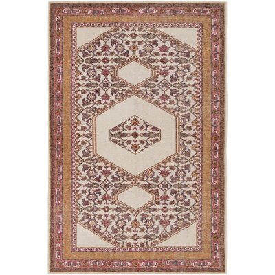 Hagerman Classic Orange Area Rug Rug size: Rectangle 2 x 3
