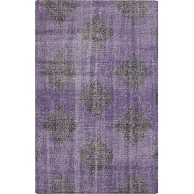 Ritesh Damask Violet Area Rug Rug size: Rectangle 8 x 11