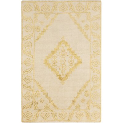 Pittsford Beige/Gold Area Rug Rug Size: 5 x 8