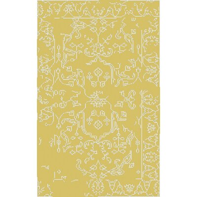 Pittsford Yellow Area Rug Rug Size: 5 x 8