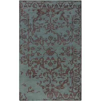 Pittsford Eggplant/Teal Area Rug Rug Size: Rectangle 5 x 8