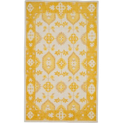 Drachten Burnt Orange/Beige Area Rug Rug Size: Rectangle 56 x 86