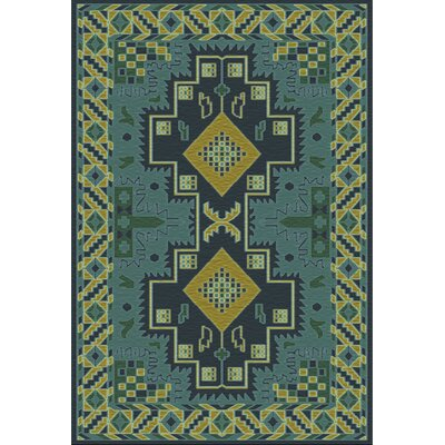 Drachten Green/Teal Area Rug Rug Size: Rectangle 36 x 56