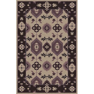 Drachten Eggplant/Beige Area Rug Rug Size: Rectangle 36 x 56