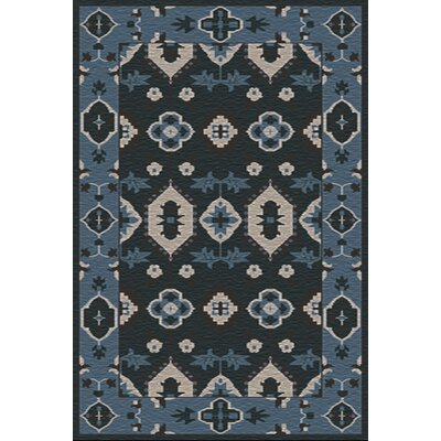 Drachten Navy/Black Area Rug Rug Size: Rectangle 56 x 86