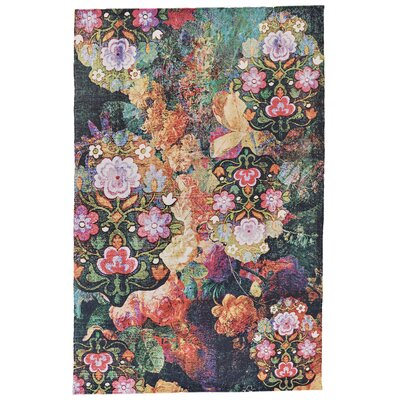 Arla Hand Woven Orange/Pink Indoor/Outdoor Area Rug Rug Size: 56 x 86