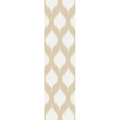 Norwell Beige Chic Area Rug Rug Size: Runner 26 x 10