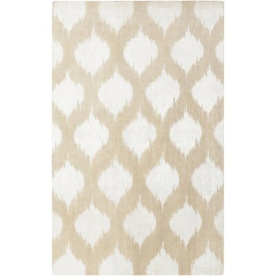 Norwell Beige Chic Area Rug Rug Size: 5 x 8