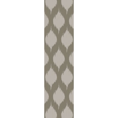Norwell Light Gray Chic Area Rug Rug Size: Runner 26 x 10