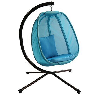 Ibarra Swing Chair with Stand Color: Light Blue