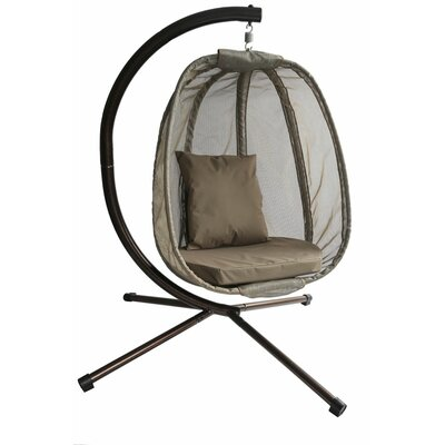 Egg Swing Chair with Stand Color: Bark