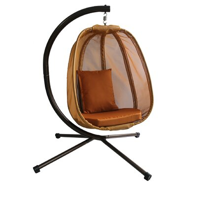 Ibarra Swing Chair with Stand Color: Brown