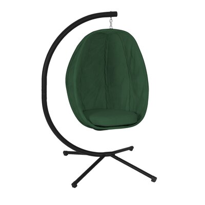 Ibarra Swing Chair with Stand Color: Forest Green