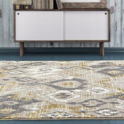 Thornton Beige/Gray Indoor/Outdoor Area Rug Rug Size: 52 x 72