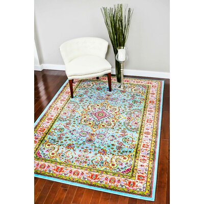 Becker Blue Indoor Area Rug Rug Size: 5 x 7