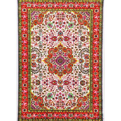 Thornton Ivory/Red Indoor/Outdoor Area Rug Rug Size: 2' x 3'