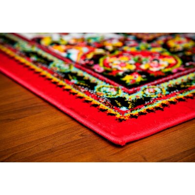 Dunlap Red Indoor/Outdoor Area Rug Rug Size: 2 x 3