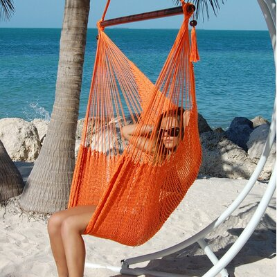 Travis Large Caribbean Polyester Chair Hammock Color: Orange
