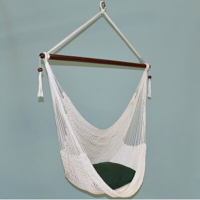 Travis Large Caribbean Polyester Chair Hammock Color: White