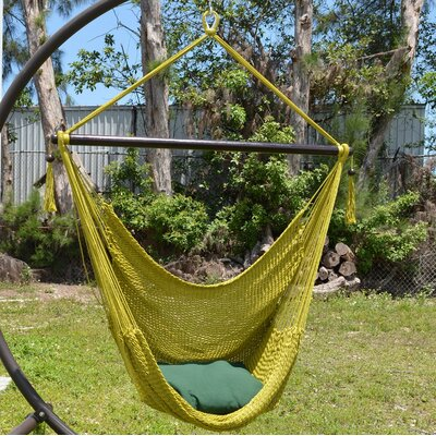 Travis Large Caribbean Polyester Chair Hammock Color: Olive