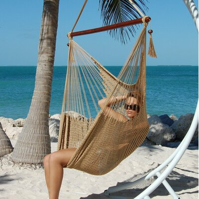 Travis Large Caribbean Polyester Chair Hammock Color: Tan