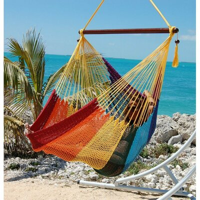 Travis Large Caribbean Polyester Chair Hammock Color: Rainbow