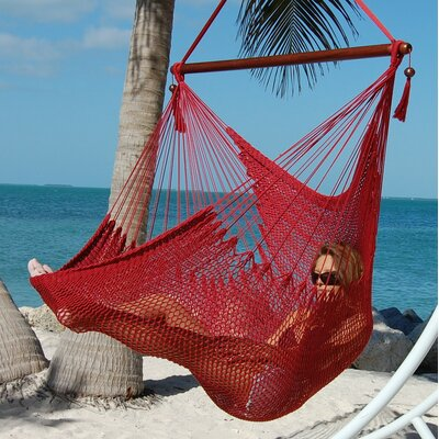 Travis Large Caribbean Polyester Chair Hammock Color: Red